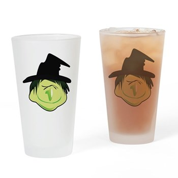 Happy Green Witch Pint Glass