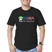 Obama 1up for America Men's Fitted T-Shirt (dark)