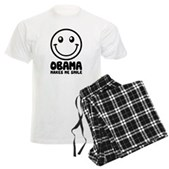 Obama Makes Me Smile Men's Light Pajamas