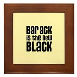 Barack is the New Black Framed Tile