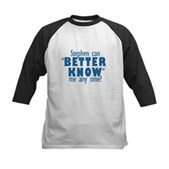 Stephen Can Better Know Me Kids Baseball Jersey