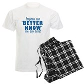 Stephen Can Better Know Me Men's Light Pajamas