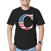 C stands for Colbert Men's Fitted T-Shirt (dark)