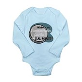 Where's My Quarter? Long Sleeve Infant Bodysuit