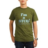 I'm a STUD* Organic Men's T-Shirt (dark)