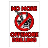 No More Offshore Drilling Large Poster