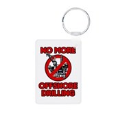 No More Offshore Drilling Aluminum Photo Keychain