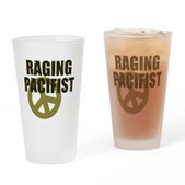 Raging Pacifist Pint Glass