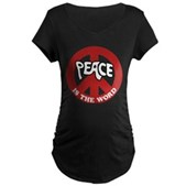 Peace is the word Maternity Dark T-Shirt