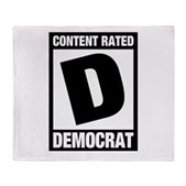 Content Rated Democrat Stadium Blanket