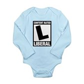 Content Rated Liberal Long Sleeve Infant Bodysuit