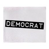Democrat Label Stadium Blanket