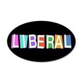 Colorful Retro Liberal 22x14 Oval Wall Peel