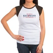 Funny Bachmann Toothpaste Women's Cap Sleeve T-Shi