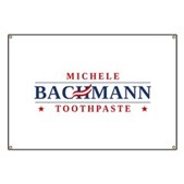 Funny Bachmann Toothpaste Banner