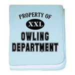 Property of Owling Dept baby blanket