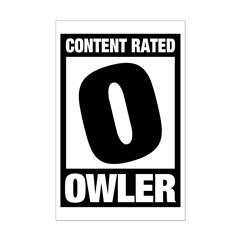 Content Rated Owler Mini Poster Print