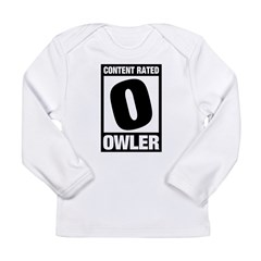 Content Rated Owler Long Sleeve Infant T-Shirt