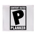 Content Rated Planker Throw Blanket