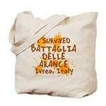 Battle of Oranges Tote Bag