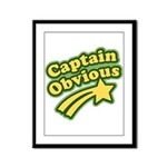 Captain Obvious Framed Panel Print
