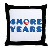 4 More Years Throw Pillow