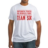 Team Six Quote Fitted T-Shirt