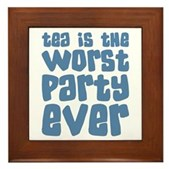 Worst Party Ever Framed Tile