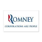 Anti-Romney Corporations 22x14 Wall Peel