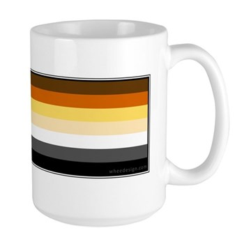 Bear Pride Flag Large Mug