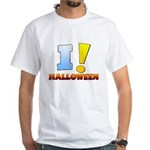 I ! Halloween White T-Shirt
