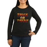 Trick or Treat Women's Long Sleeve Dark T-Shirt