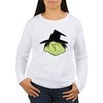 Happy Green Witch Women's Long Sleeve T-Shirt