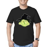 Happy Green Witch Men's Fitted T-Shirt (dark)