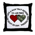 Air Force I love a man ... Throw Pillow