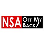 NSA Off My Back bumper sticker