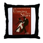 Distressed Retro DWTS Poster Throw Pillow