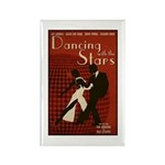 Distressed Retro DWTS Poster Rectangle Magnet (100 pack)