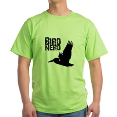 Bird Nerd (Pelican) Green T-Shirt