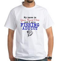Fishing Addict White T-Shirt
