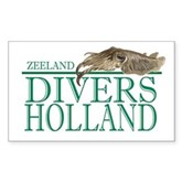 Zeeland Divers Holland Rectangle Sticker