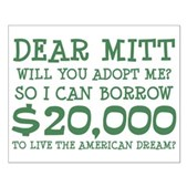 Mitt Will You Adopt Me? Small Poster