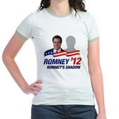 Anti-Romney Shadow Jr. Ringer T-Shirt