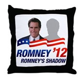 Anti-Romney Shadow Throw Pillow