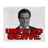 Anti-Romney: Unfit To Serve Stadium Blanket