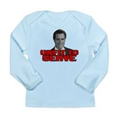 Anti-Romney: Unfit To Serve Long Sleeve Infant T-S