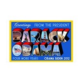 Greetings from the President 35x21 Wall Decal