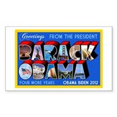 Greetings from the President Sticker (Rectangle)