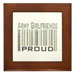 Military Army Girlfriends Proud Framed Tile
