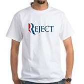 Anti-Romney Reject White T-Shirt